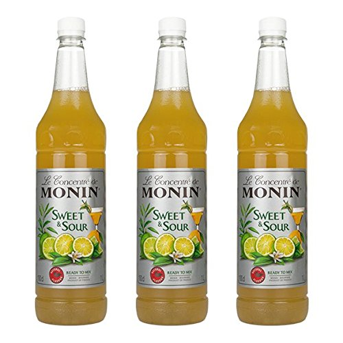 Monin Sweet & Sour, 1,0L PET, 3er Pack