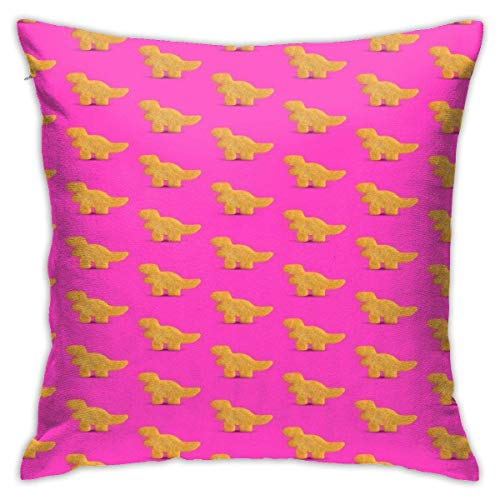 FETEAM Dino Chicken Nugget Square Kissenbezug Throw Pillow Sofa Kissen Autokissen Dekoration