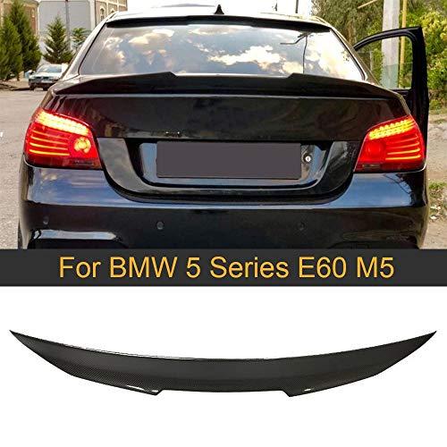 NYSCJJJ For M5 E60 Posterior del Coche del alerón del Tronco del ala for el BMW Serie 5 E60 M5 2004-2009 Fibra de Carbono Maletero Trasero Tapa del Maletero Labio Alerón