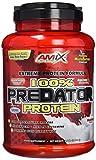Amix - Predator Protein - Proteína en Polvo - Concentrado de Suero W.P.C. - Sabor Fresa - 1 Kg - Crecimiento de Masa Muscular - Alto Contenido en L-Glutamina - Contiene Enzimas Digestivas