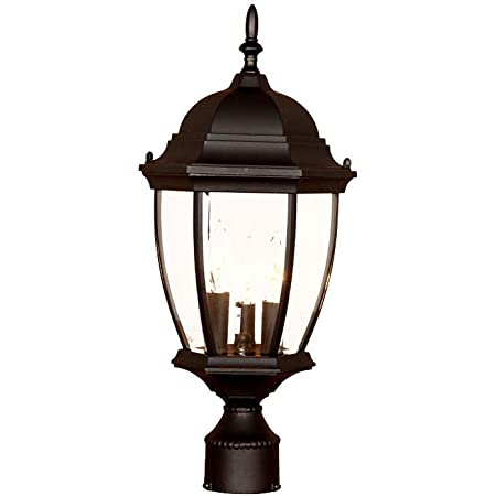 Acclaim 5017bk Wexford Collection 3 Light Post Mount Outdoor Light Fixture Matte Black Garden Outdoor