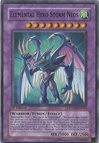 Yu-Gi-Oh! - Elemental Hero Storm Neos (PTDN-EN043) - Phantom Darkness - Unlimited Edition - Super Rare by Yu-Gi-Oh!