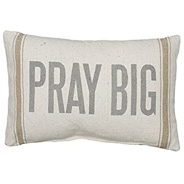Primitives by Kathy 21659 Striped Accent Pillow, 15  x 10 , Pray Big