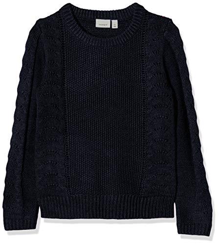 NAME IT Baby-Mädchen NMFNANDIE LS Knit Camp Pullover, Blau (Dark Sapphire Dark Sapphire), (Herstellergröße: 104)