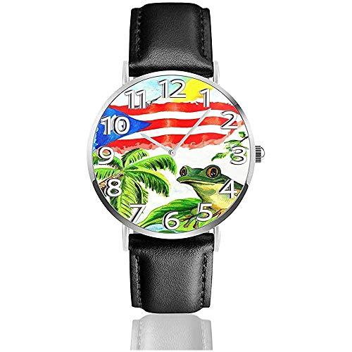 Good Sleep with Puerto Rico 's Frog Watches Reloj de Cuero de...