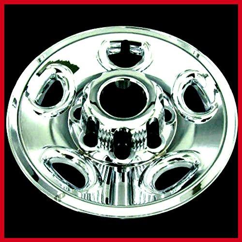 "House Deals Chevy Chrome Tire Wheel Skin Rim Covers 8 Lug Hub Caps 16"" Set of 4"