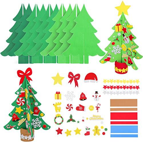 Aneco 15 Kits DIY Christmas Tree Foam Craft Kits 3D Christmas Tree Foam Combination Stickers for Holiday Making Creative Christmas Tree, Assorted Christmas Accessory