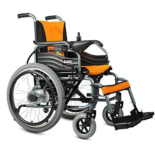 DLY Älterer Behinderter Elektrischer Rollstuhl, Der Leichte Gehhilfen mit Prüfer und Entfernbarem Beinschutz für Behinderte und Ältere Personen Faltet, Kann 20Km Fahren