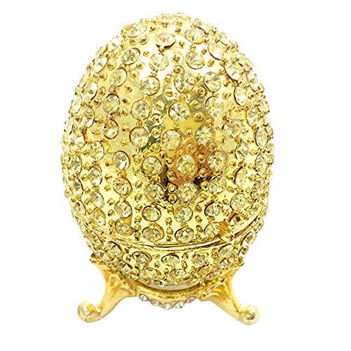 LANL Caja de joyería de huevo de Pascua con esmalte brillante para manualidades, regalo de boda, decoración del hogar para las mujeres del día de San Valentín