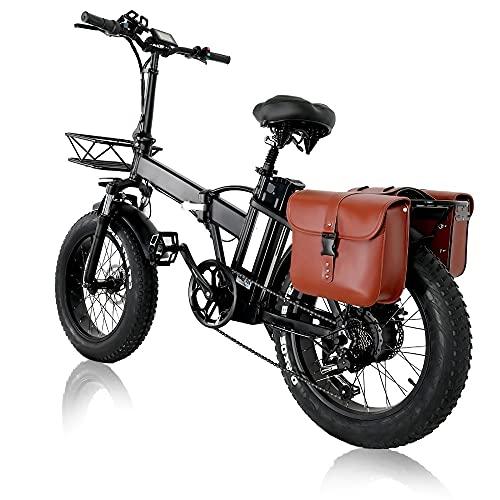 Elektrofahrrad E-Bike Klapprad 20 Zoll, 15AH 48V Lithium-Batterie Mit 750W Motor, Poland-Warehouse, 4.0 Fat Tire Faltbare E Bike Herren Mit Tasche, Höhenverstellbar (7-15 Days)