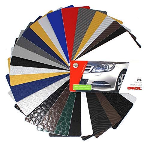Farbfächer Plotterfolie Oracal Folie 970, 975, 951, 751 C, 651, 631/451 / 7510 Plott Folie Autofolie Werbung (Oracal 975)