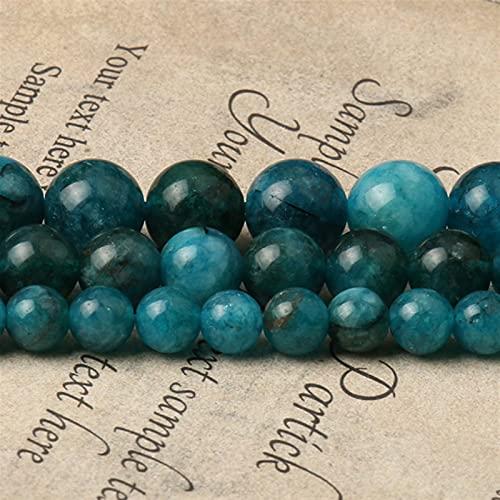 Heinside Cuentas trenzadas de piedra natural de 6/8/10 mm, redondas azules, sueltas para hacer joyas, pulseras y pulseras (Diámetro del artículo: 6 mm 61 cps)