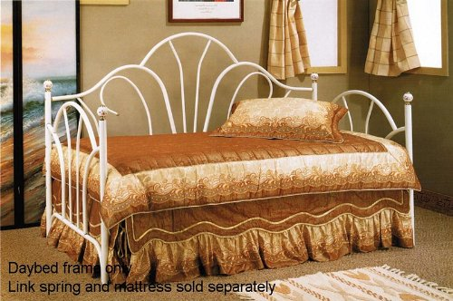 WHITE METAL DAY BED BY POUNDEX