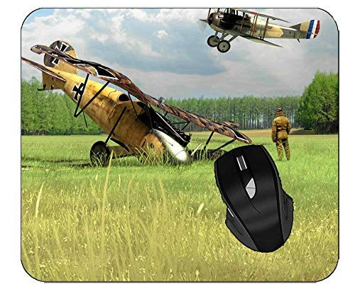 Gaming Mouse Pad Military Aircraft Non-Slip Rubber Mousepad