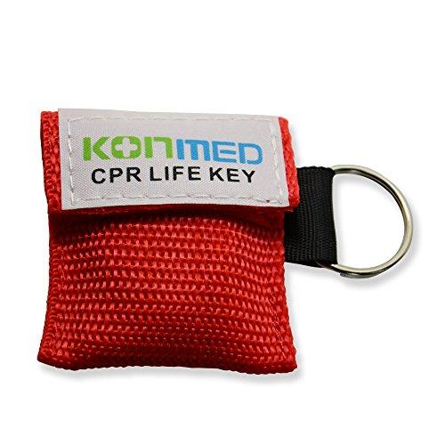 konmed Lot de 100/Lot de réanimation Face Shield/vie Clé dans une pochette porte-clés