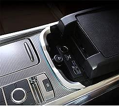 for Range rover Sport 2018-2020, ABS Plastic Central Control Armrest box Strips Trim Matte Silver