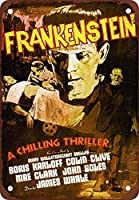 Frankenstein 金属板ブリキ看板警告サイン注意サイン表示パネル情報サイン金属安全サイン