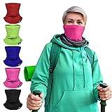 Motorcycle Face Mask Biker Neck Gaiter Bandana Sun UV Dust Protection Balaclava Running Ski Face Cover Scarf (Pink)