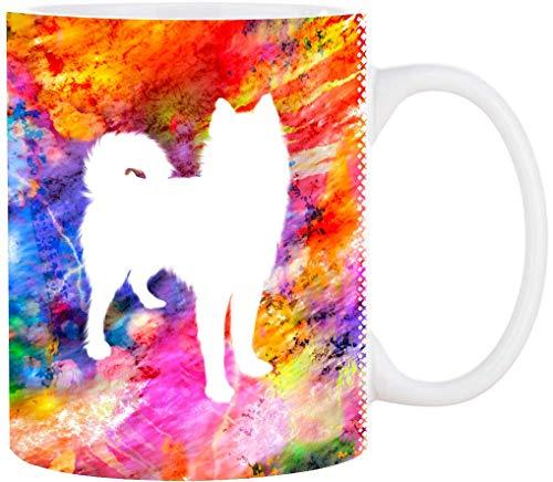 Cadouri Hunde-Tasse HUSKY mit Hunderasse┊Kaffeetasse Bürotasse┊tolle Geschenkidee für Hundeliebhaber