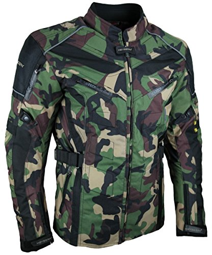 HEYBERRY Touren Motorrad Jacke Motorradjacke Textil Camouflage grün Gr. L