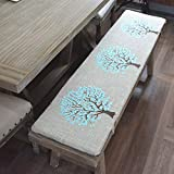 HANHAN Almohadilla de banco con cremallera con funda extraíble, cojín de repuesto para banco de jardín, jardín, jardín, patio, cojín de asiento de banco de madera de 2 plazas