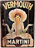 RetroReclamos Cuadro de Madera Vintage Martini