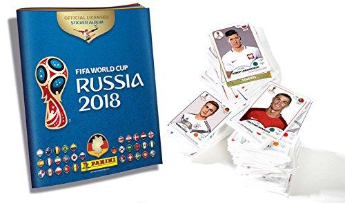 Panini WM Russia 2018 Sticker - 1 Komplettsatz ALLE Sticker der Serie + 1 Album