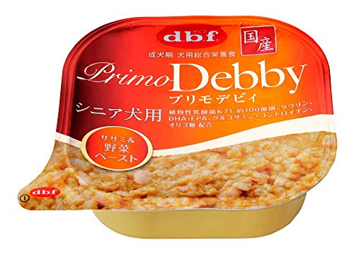 デビフ ドッグフード プリモデビィ シニア犬用 ササミ&野菜ペースト オレンジ 95g×6個 (まとめ買い)