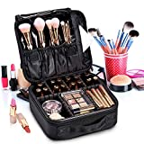 MapleTech Travel Makeup Bag Waterproof, Toiletry Organizer Cosmetic Case Storage Organizer Waterproof, with Compartments Waterproof Detachable Vanity Organizer, Adjustable Divider