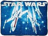 Jay Franco Star Wars Classic Vintage Logo Throw Blanket, Blue