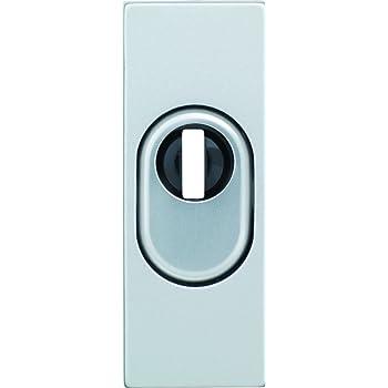 ABUS Tür-Schutzrosette RSZS316 F1 neusilber mit Zylinderschutz für Metalltüren 09456
