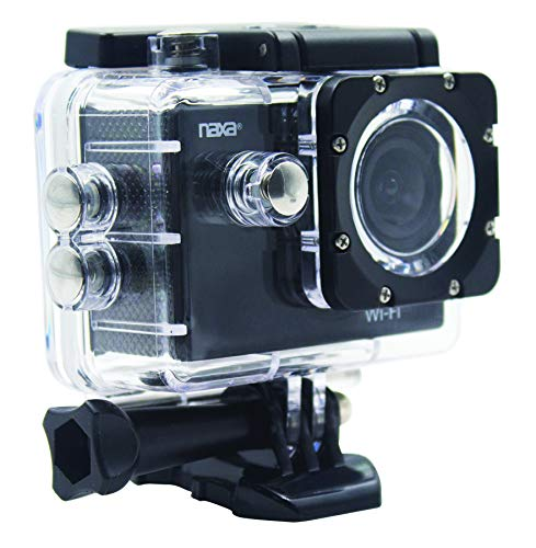 Naxa Electronics NDC-407 Waterproof Action Camera, Shiny Black