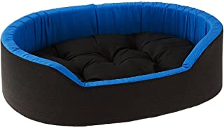 Gorgeous Reversable Blue Color Egg Shape Ultra Soft Ethnic Designer Bed for Dog/Cat (Export Quality) Size-Medium