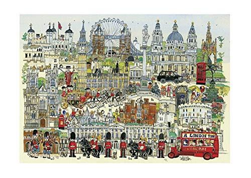 Adult 1000 stuks legpuzzels, schilderen Reeks, een in Londen TOUR, Hardcover for Grown Ups kinderen educatieve spelletjes speelgoed Jigsaw Vloerpuzzel (Color : A)