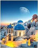 Wallario Poster - Urlaub auf Santorini in Premiumqualität,