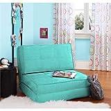 Zone Flip Ultra Suede Convertible Flip Chair, Teal