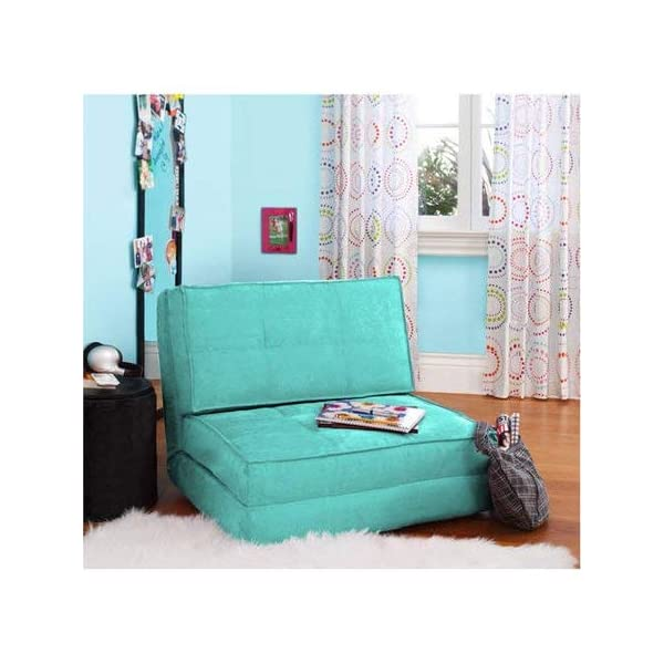 Zone Flip Ultra Suede Convertible Flip Chair, Teal