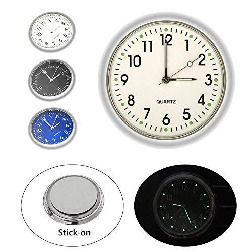 Gabriel - Mini orologio, al quarzo, luminoso, analogico, tascabile, universale, da attaccare, per auto, barca, bicicletta, casa