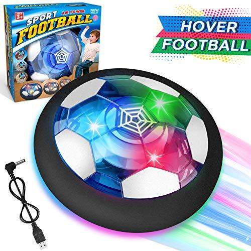 WEARXI Fussball Geschenke Jungen 5 6 10 Jahre - Hover Ball Spielzeug Ab 5-10 Jahre Junge, Air Hockey Kinderspielzeug mit LED-Licht, Indoor & Outdoor Kinder Spiele, Ostergeschenke (1 Pack)