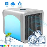 Air Cooler, Evaporative Space Air Conditioner, 3-in-1 Mini USB Air Conditioner Fan, Purifier, Humidifier for Home, Office, Desktop Cooling Fan with 3 Speeds