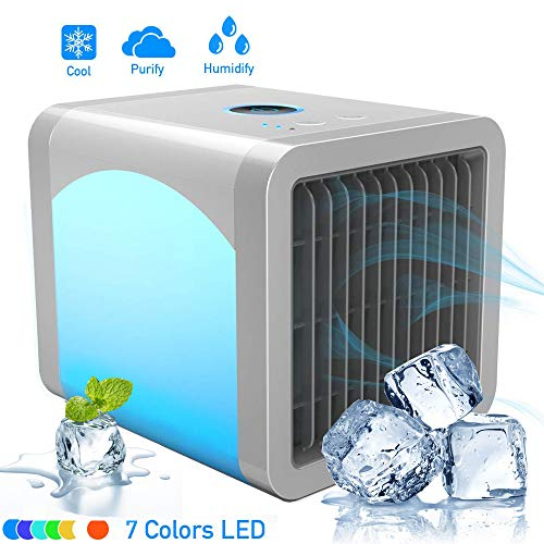 Air Cooler, Evaporative Space Air Conditioner, 3-in-1 Mini USB Air Conditioner Fan, Purifier,...
