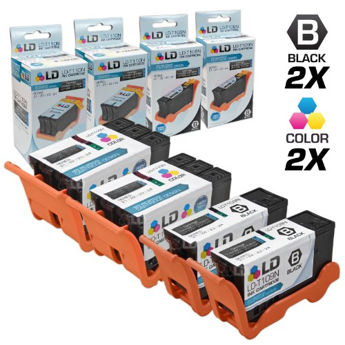 Price comparison product image LD Compatible Ink Cartridge Replacement for Dell Series 24 High Yield (2 Black,  2 Color,  4-Pack)