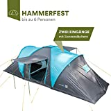 Skandika Hammerfest Family Dome Tent with Sewn-In Groundsheet, 2 Sleeping Cabins, 200 cm
