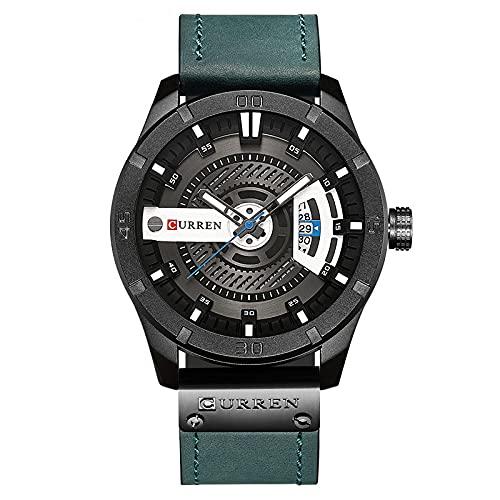 Legxaomi Relojes de lujo, los hombres militares reloj de los hombres de cuarzo fecha reloj de los hombres casual reloj de cuero Relogio Masculino blackblue