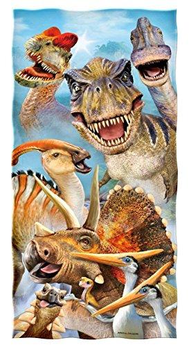 YISUMEI - Badetuch - Dinosaurier Selfie - 70 cm x 140 cm Strandtuch