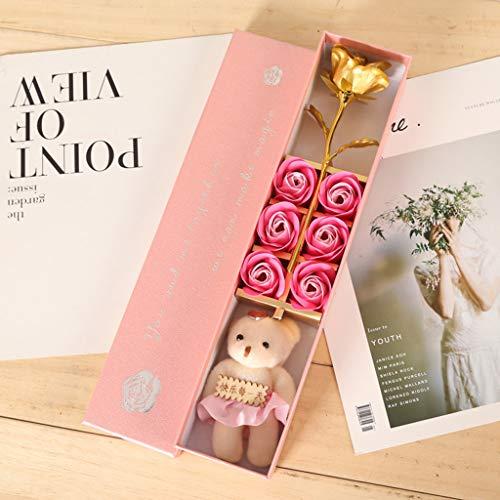 Fleur artificielle, femmes pour qui vous avez aimé jolie rose rouge jolies filles cadeau unique pour maman, décoration (rose)