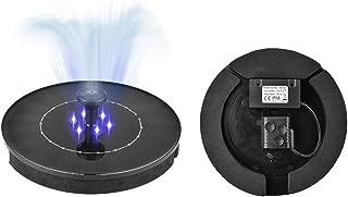 Missoul 2.4W LED Solar Fountain Pump for Bird Bath Miniature Ground Waterproof Floating Fountain Solar Powered Water Pump for Garden Pond