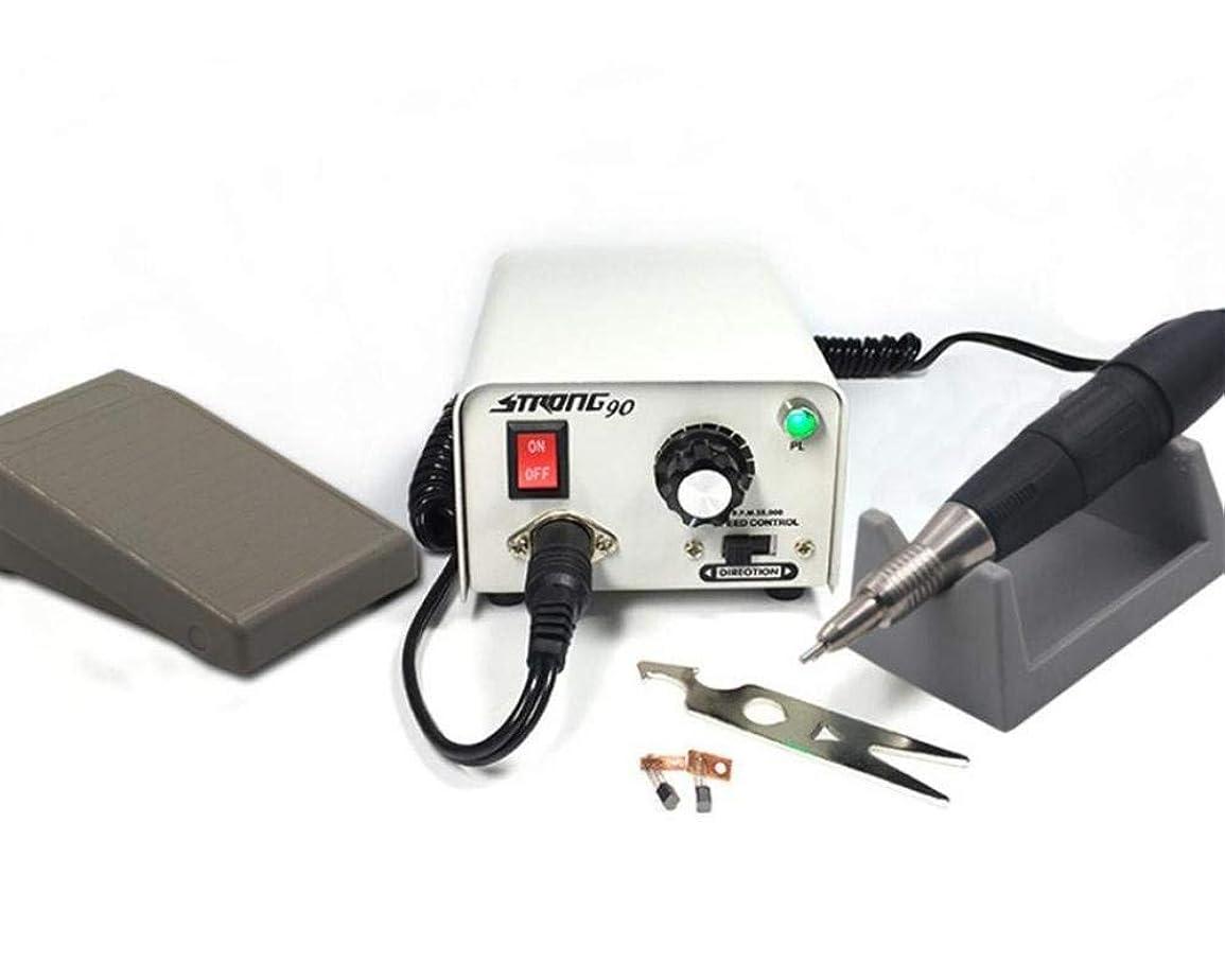 高めるクッション撤回する電気ネイルドリル35000 rpmネイルアート彫刻機器マニキュアペディキュアマシンネイルファイルネイルポリッシャードリルビットアクセサリー