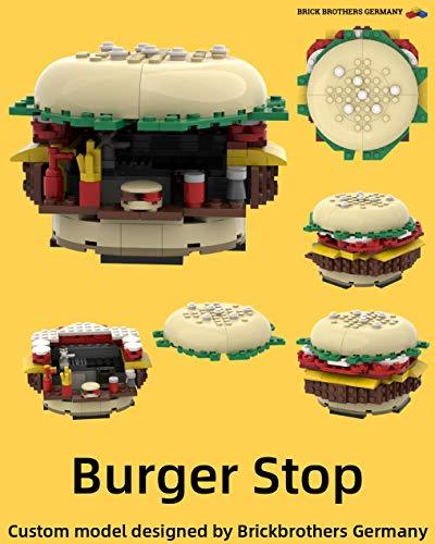 MOC Anleitung Burger Stop kompatibel mit Lego® Steinen: MOC building instruction compatible with Lego® Bricks (German Edition)