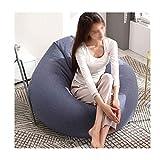 YZjk Startseite Kinder Sitzsack Sofa Stuhl Wohnzimmer Glatte Sitzsack Startseite D & Eacute; COR (Farbe: Blau, Größe: 43,3 x 51,2 Zoll)